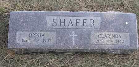 SHAFER, ORPHA - Sheridan County, Nebraska   ORPHA SHAFER - Nebraska Gravestone Photos
