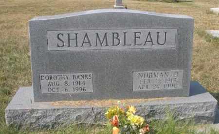 SHAMBLEAU, NORMAN D. - Sheridan County, Nebraska | NORMAN D. SHAMBLEAU - Nebraska Gravestone Photos