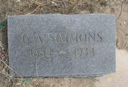 SIMMONS, C.A. - Sheridan County, Nebraska | C.A. SIMMONS - Nebraska Gravestone Photos