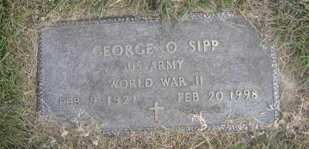 SIPP, GEORGE O. - Sheridan County, Nebraska   GEORGE O. SIPP - Nebraska Gravestone Photos