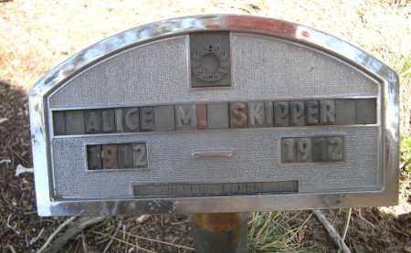 SKIPPER, ALICE M. - Sheridan County, Nebraska | ALICE M. SKIPPER - Nebraska Gravestone Photos