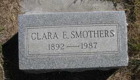 SMOTHERS, CLARA E. - Sheridan County, Nebraska | CLARA E. SMOTHERS - Nebraska Gravestone Photos
