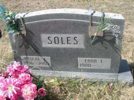 SOLES, ROSCOE E. - Sheridan County, Nebraska   ROSCOE E. SOLES - Nebraska Gravestone Photos