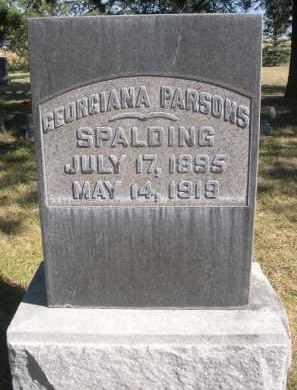 PARSONS SPALDING, GEORGIANA - Sheridan County, Nebraska | GEORGIANA PARSONS SPALDING - Nebraska Gravestone Photos