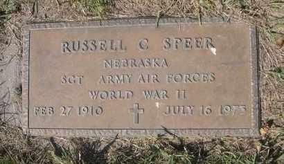 SPEER, RUSSELL C. - Sheridan County, Nebraska | RUSSELL C. SPEER - Nebraska Gravestone Photos