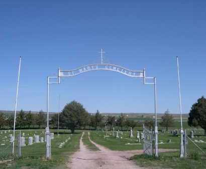 *ST MARY'S CEMETERY (RUSHVILLE, ENTRANCE TO - Sheridan County, Nebraska   ENTRANCE TO *ST MARY'S CEMETERY (RUSHVILLE - Nebraska Gravestone Photos