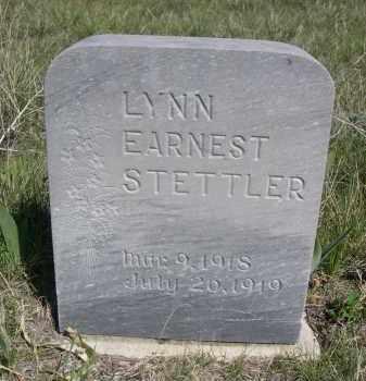 STETTLER, LYNN EARNEST - Sheridan County, Nebraska | LYNN EARNEST STETTLER - Nebraska Gravestone Photos