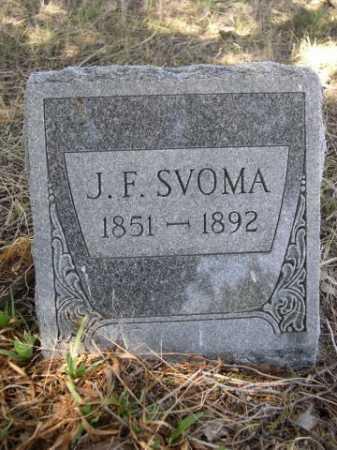 SVOMA, J.F. - Sheridan County, Nebraska | J.F. SVOMA - Nebraska Gravestone Photos