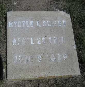 SWEET, MYRTLE I. - Sheridan County, Nebraska   MYRTLE I. SWEET - Nebraska Gravestone Photos