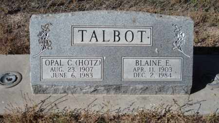 TALBOT, BLAINE E. - Sheridan County, Nebraska   BLAINE E. TALBOT - Nebraska Gravestone Photos