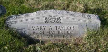 TAYLOR, MARY A. - Sheridan County, Nebraska | MARY A. TAYLOR - Nebraska Gravestone Photos