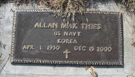 THIES, ALLAN MAX - Sheridan County, Nebraska | ALLAN MAX THIES - Nebraska Gravestone Photos