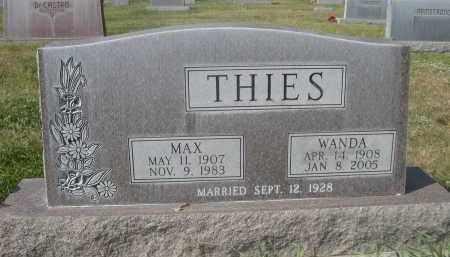 THIES, MAX - Sheridan County, Nebraska | MAX THIES - Nebraska Gravestone Photos