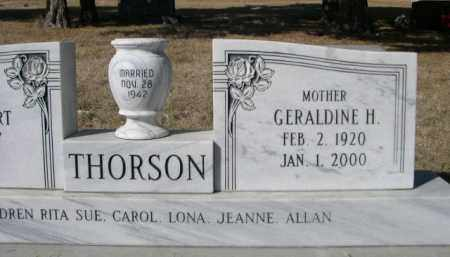 THORSON, GERALDINE H. - Sheridan County, Nebraska | GERALDINE H. THORSON - Nebraska Gravestone Photos