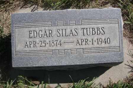 TUBBS, EDGAR SILAS - Sheridan County, Nebraska   EDGAR SILAS TUBBS - Nebraska Gravestone Photos