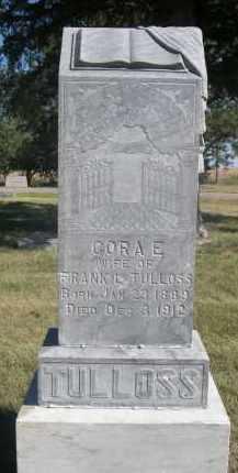 TULLOS, CORA E. - Sheridan County, Nebraska | CORA E. TULLOS - Nebraska Gravestone Photos