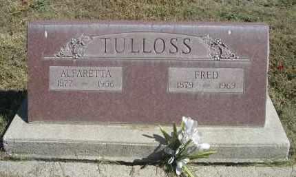 TULLOSS, ALFARETTA - Sheridan County, Nebraska | ALFARETTA TULLOSS - Nebraska Gravestone Photos