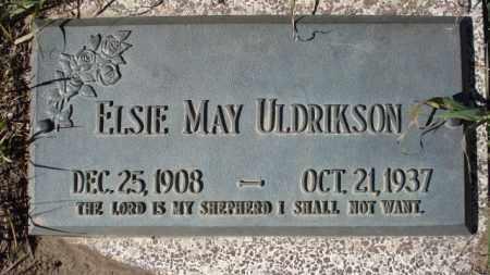 ULDRIKSON, ELSIE MAY - Sheridan County, Nebraska | ELSIE MAY ULDRIKSON - Nebraska Gravestone Photos