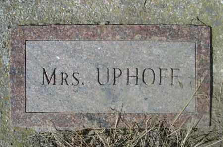 UPHOFF, MRS. - Sheridan County, Nebraska | MRS. UPHOFF - Nebraska Gravestone Photos