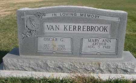 ARTHUR VAN KERREBROOK, MARY ANN - Sheridan County, Nebraska | MARY ANN ARTHUR VAN KERREBROOK - Nebraska Gravestone Photos