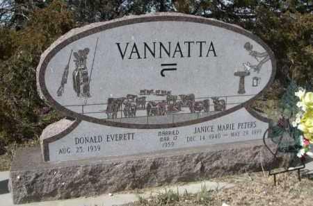 PETERS VANNATTA, JANICE MARIE - Sheridan County, Nebraska | JANICE MARIE PETERS VANNATTA - Nebraska Gravestone Photos