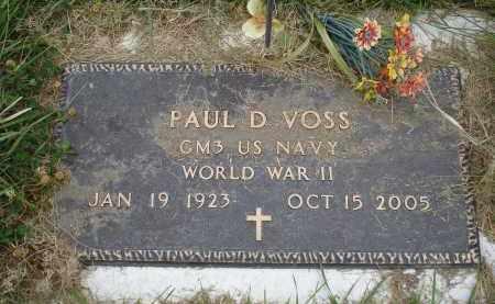 VOSS, PAUL D. - Sheridan County, Nebraska | PAUL D. VOSS - Nebraska Gravestone Photos