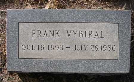VYBIRAL, FRANK - Sheridan County, Nebraska   FRANK VYBIRAL - Nebraska Gravestone Photos