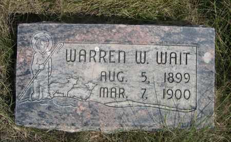 WAIT, WARREN W. - Sheridan County, Nebraska   WARREN W. WAIT - Nebraska Gravestone Photos