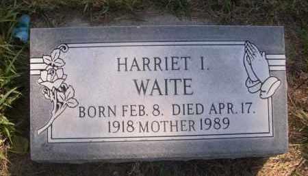 WAITE, HARRIET I. - Sheridan County, Nebraska | HARRIET I. WAITE - Nebraska Gravestone Photos