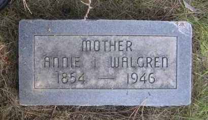 WALGREN, ANNIE I. - Sheridan County, Nebraska   ANNIE I. WALGREN - Nebraska Gravestone Photos