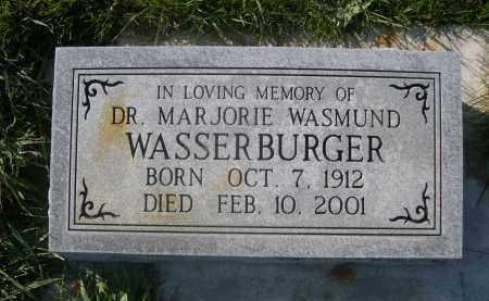 WASMUND WASSERBURGER, MARJORIE - Sheridan County, Nebraska   MARJORIE WASMUND WASSERBURGER - Nebraska Gravestone Photos