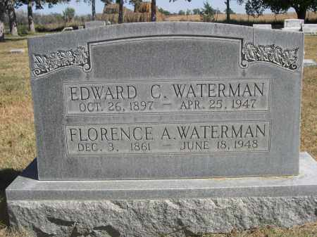 WATERMAN, EDWARD C. - Sheridan County, Nebraska | EDWARD C. WATERMAN - Nebraska Gravestone Photos