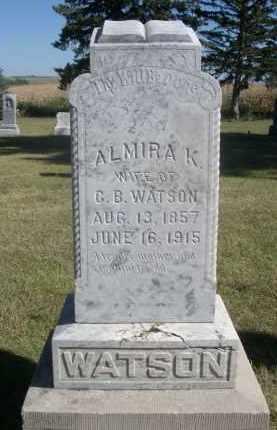 WATSON, ALMIRA K. - Sheridan County, Nebraska   ALMIRA K. WATSON - Nebraska Gravestone Photos