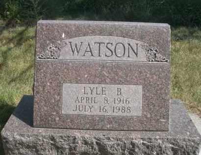 WATSON, LYLE B. - Sheridan County, Nebraska   LYLE B. WATSON - Nebraska Gravestone Photos