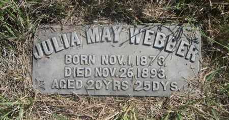 WEBBER, JULIA MAY - Sheridan County, Nebraska | JULIA MAY WEBBER - Nebraska Gravestone Photos