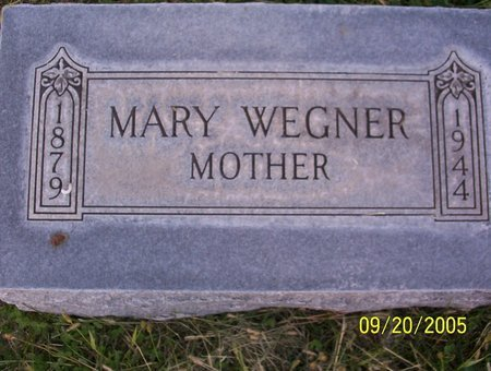 WEGNER WEGNER, MARY MINNIE - Sheridan County, Nebraska | MARY MINNIE WEGNER WEGNER - Nebraska Gravestone Photos