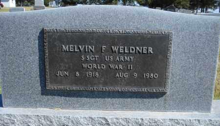 WELDNER, MELVIN F. - Sheridan County, Nebraska   MELVIN F. WELDNER - Nebraska Gravestone Photos