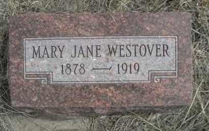 WESTOVER, MARY JANE - Sheridan County, Nebraska | MARY JANE WESTOVER - Nebraska Gravestone Photos