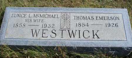 WESTWICK, THOMAS EMERSON - Sheridan County, Nebraska   THOMAS EMERSON WESTWICK - Nebraska Gravestone Photos