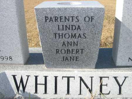 WHITNEY, FAMILY - Sheridan County, Nebraska | FAMILY WHITNEY - Nebraska Gravestone Photos