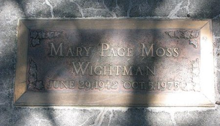 WIGHTMAN, MARY PAGE - Sheridan County, Nebraska | MARY PAGE WIGHTMAN - Nebraska Gravestone Photos