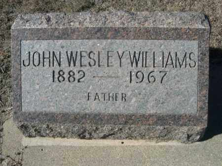WILLIAMS, JHN WESLEY - Sheridan County, Nebraska | JHN WESLEY WILLIAMS - Nebraska Gravestone Photos