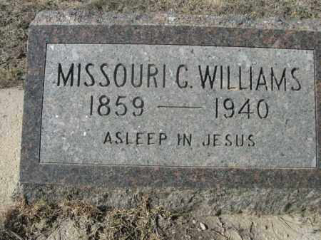 WILLIAMS, MISSOURI C. - Sheridan County, Nebraska | MISSOURI C. WILLIAMS - Nebraska Gravestone Photos