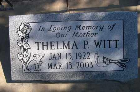 WITT, THELMA P. - Sheridan County, Nebraska   THELMA P. WITT - Nebraska Gravestone Photos