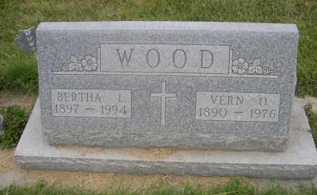WOOD, BERTHA L. - Sheridan County, Nebraska | BERTHA L. WOOD - Nebraska Gravestone Photos