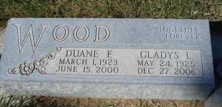 WOOD, DUANE F. - Sheridan County, Nebraska | DUANE F. WOOD - Nebraska Gravestone Photos