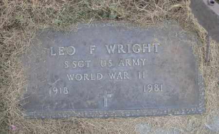 WRIGHT, LEO F. - Sheridan County, Nebraska | LEO F. WRIGHT - Nebraska Gravestone Photos