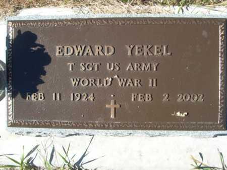 YEKEL, EDWARD - Sheridan County, Nebraska | EDWARD YEKEL - Nebraska Gravestone Photos