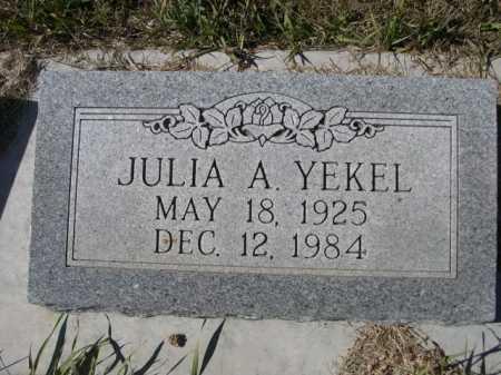 YEKEL, JULIA A. - Sheridan County, Nebraska   JULIA A. YEKEL - Nebraska Gravestone Photos