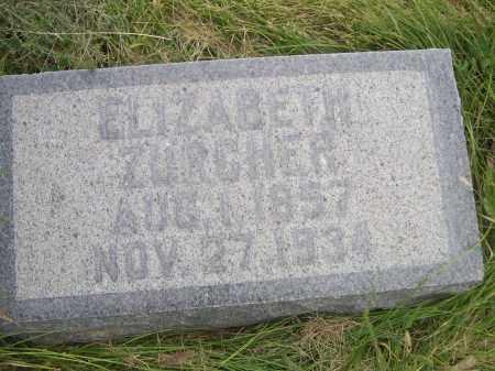 ZURCHER, ELIZABETH - Sheridan County, Nebraska   ELIZABETH ZURCHER - Nebraska Gravestone Photos